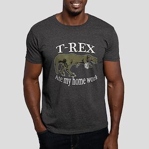 T Rex ate my home work Dark T-Shirt