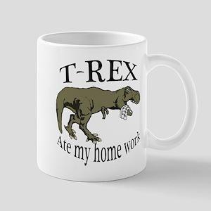 T Rex ate my home work Mug