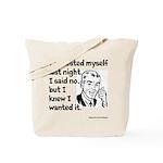 Molested Myself Tote Bag