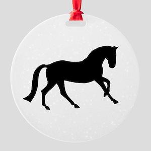 canter black Round Ornament