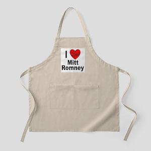 I Love Mitt Romney BBQ Apron