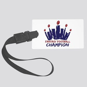 Fantasy Football Champ Crown Large Luggage Tag