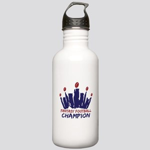 Fantasy Football Champ Crown Stainless Water Bottl