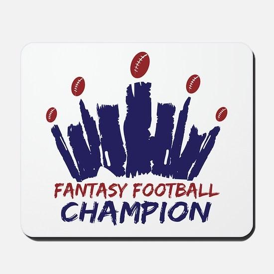 Fantasy Football Champ Crown Mousepad