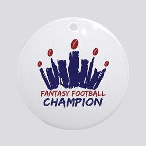 Fantasy Football Champ Crown Ornament (Round)