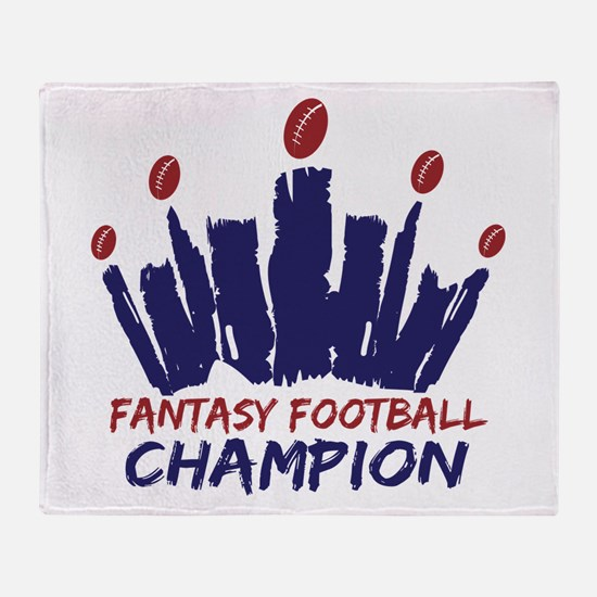 Fantasy Football Champ Crown Throw Blanket