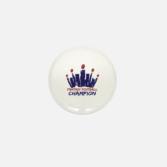 Fantasy Football Champ Crown Mini Button
