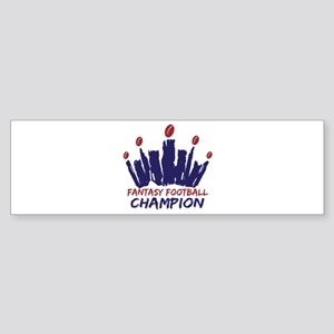 Fantasy Football Champ Crown Sticker (Bumper)