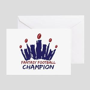Fantasy Football Champ Crown Greeting Card