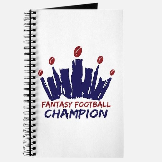Fantasy Football Champ Crown Journal