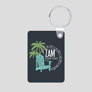 SAM Palm Tree Personalized Aluminum Photo Keychain