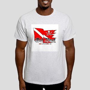 Get Bent Jolly Roger  Ash Grey T-Shirt
