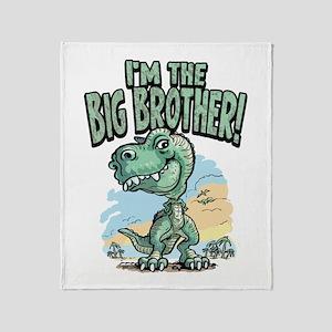 Big Brother T-Rex Throw Blanket