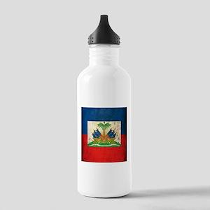 Grunge Haiti Flag Stainless Water Bottle 1.0L