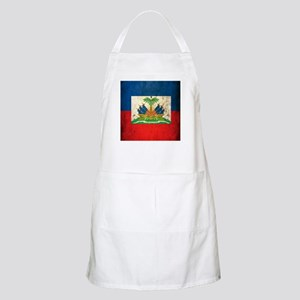 Grunge Haiti Flag Apron