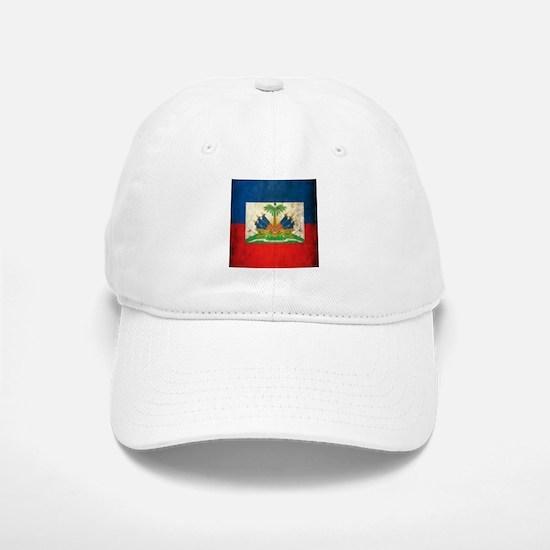Grunge Haiti Flag Baseball Baseball Cap