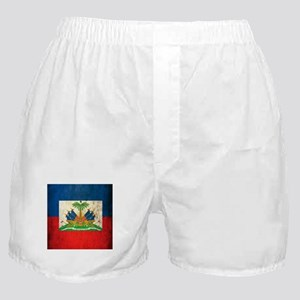 Grunge Haiti Flag Boxer Shorts