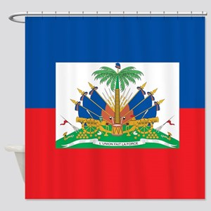 Haiti Flag Shower Curtain