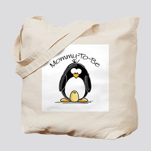 Mommy to Be Penguin Tote Bag