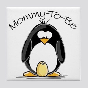 Mommy to Be Penguin Tile Coaster