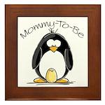 Mommy to Be Penguin Framed Tile