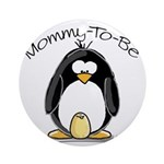 Mommy to Be Penguin Ornament (Round)