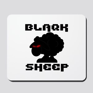 Transparent blaQk Sheep Logo Mousepad