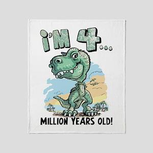 4 Million Years Old Throw Blanket