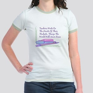Teachers Write On The Hearts. Jr. Ringer T-Shirt