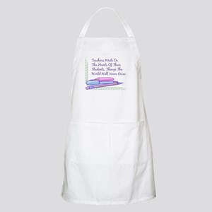 Teachers Write On The Hearts. BBQ Apron