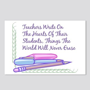 Teachers Write On The Hearts. Postcards (Package o