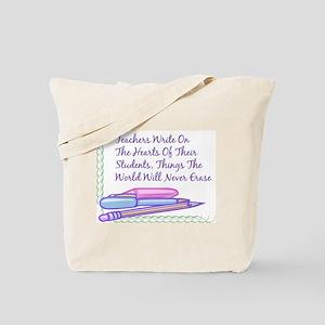 Teachers Write On The Hearts. Tote Bag