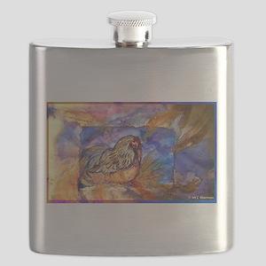 Chicken! Animal art! Flask
