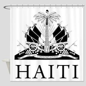 Haiti Coat Of Arms Shower Curtain