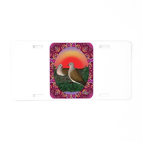 Doves Framed Aluminum License Plate