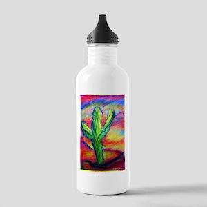 Saguaro Cactus, Southwest art! Stainless Water Bot