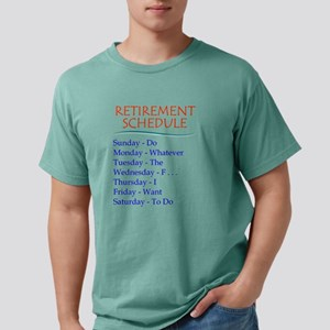 Retirement Schedule Mens Comfort Colors Shirt