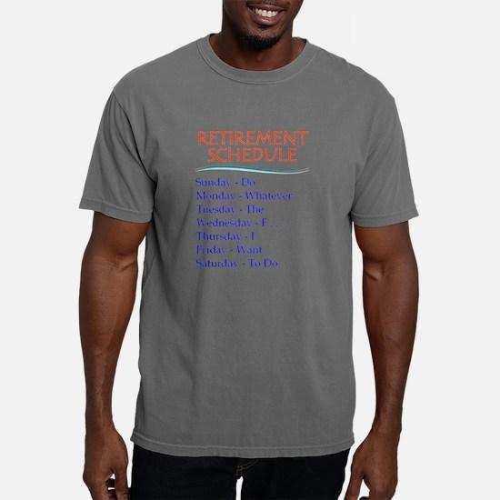 Retirement Schedule Mens Comfort Colors Shirt