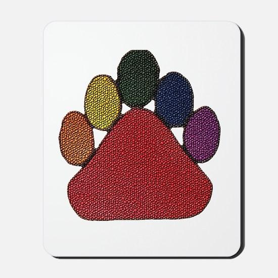 DIMPLED RAINBOW LIKE BEAR PAW Mousepad