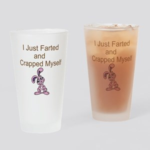 Bunny Fart Drinking Glass
