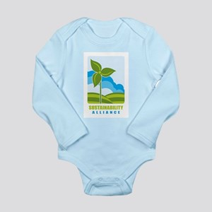 Logo Long Sleeve Infant Bodysuit