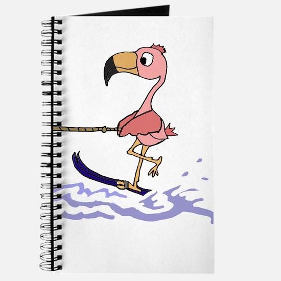 Pink Flamingo Water Skiing Journal