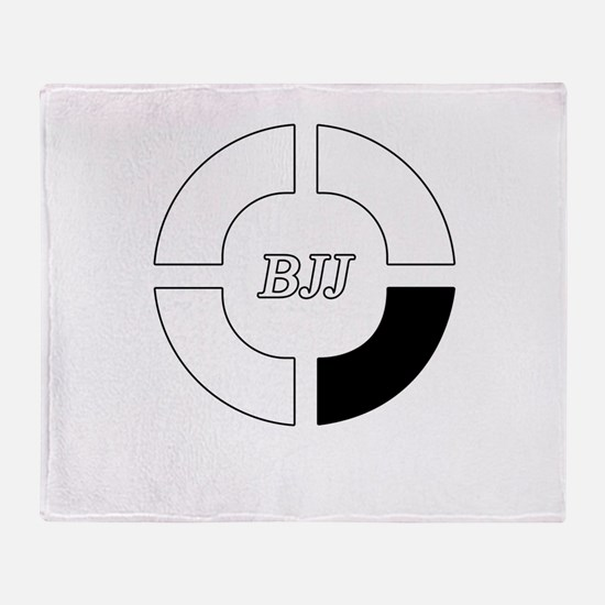 brazilian jiu jitsu Throw Blanket