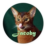Jacoby Round Car Magnet