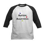 Autism Awareness (black) Kids Baseball Jersey