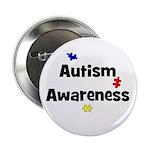 Autism Awareness (black) Button
