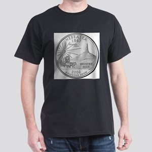 Nebraska State Quarter Black T-Shirt