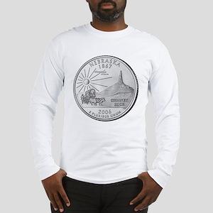 Nebraska State Quarter Long Sleeve T-Shirt