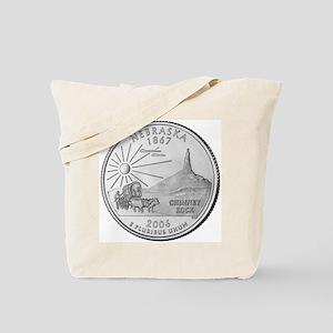 Nebraska State Quarter Tote Bag