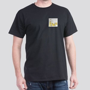 Duck and Ducklings Black T-Shirt